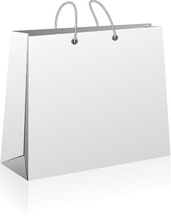Illustration vectorielle de sac de papier commercial. Pas de transparence.