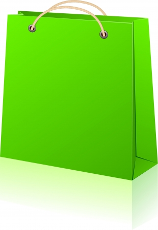 transparency: Vector illustration of paper shopping bag. No transparency.   Illustration
