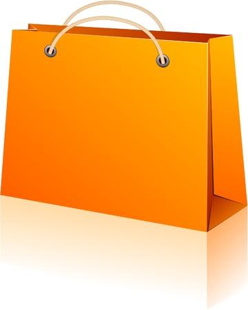 Illustration vectorielle de sac de papier commercial. Pas de transparence.   Vecteurs