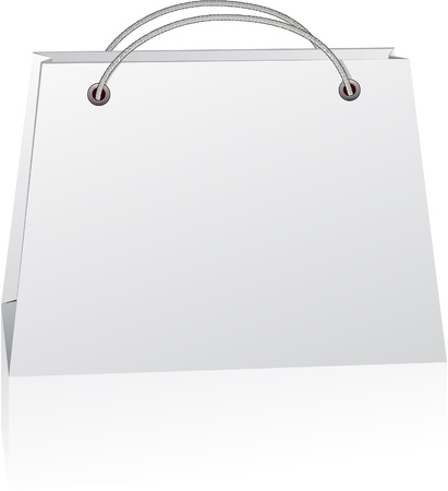paper shopping bag. No transparency. Eps8 Only. Vector