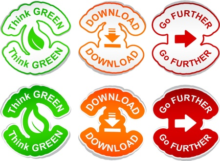 think green: Pensar verde, Descargar, Ir m�s all� vector pegatinas.   Vectores