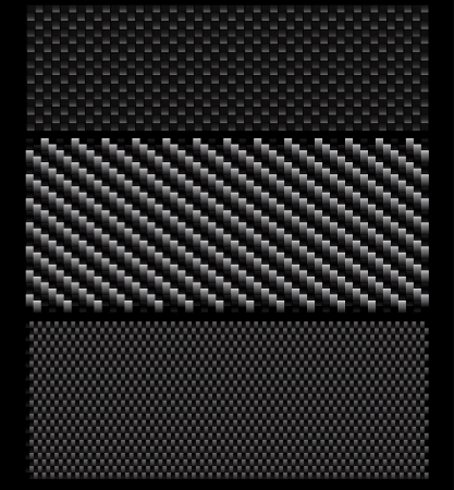 luxury template: Vector set of textured carbon patterns.  Illustration