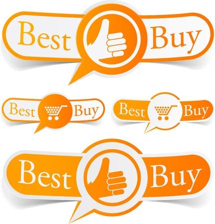 Illustration de Best buy sticky labels. Vecteurs