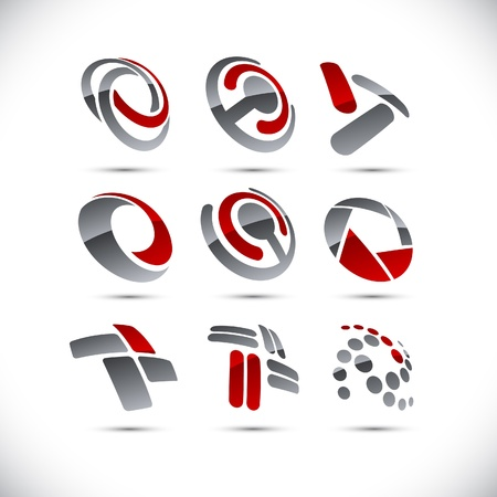 Set of vector business  abstract signs. Stock Vector - 10027800