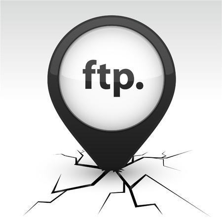 ftp: FTP  modern icon. Vector illustration.  Illustration