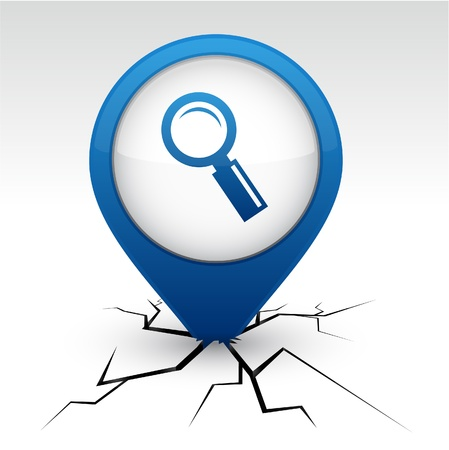 find fault: Searching  modern icon. Vector illustration.