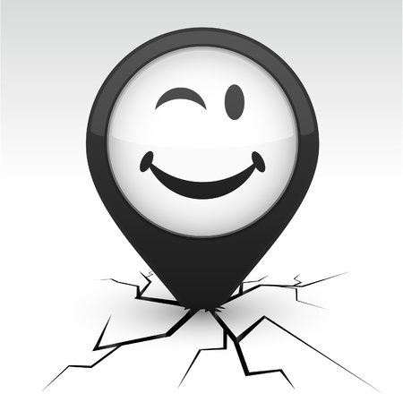 Smiley modern icon. Vector illustration. Stock Vector - 10059208