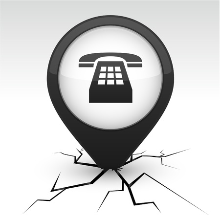 telephone icon: Telephone modern icon. Vector illustration.