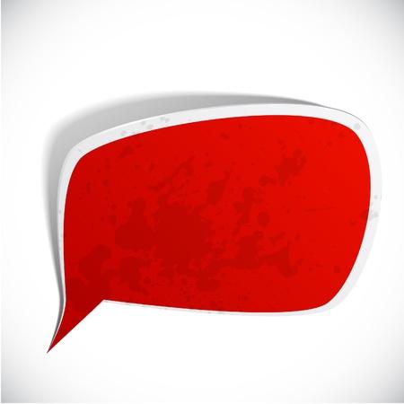 shadow speech: illustration of red paper splash speech.  Illustration
