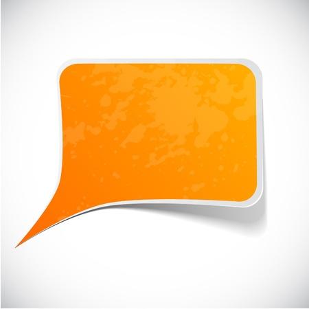 illustration of Orange paper splash speech.