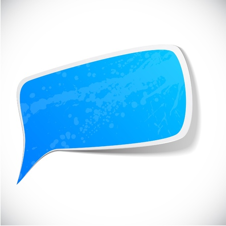 illustration of Blue paper splash speech.  Stock Vector - 10227078