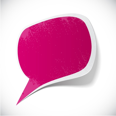 spots: Vector illustration of Fuchsia paper splash speech.