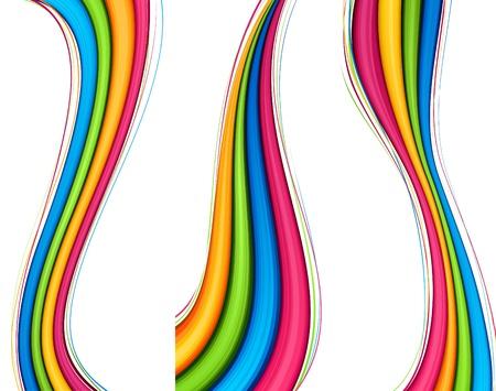arcoiris: Ilustraci�n vectorial de banners vibrantes abstractas.