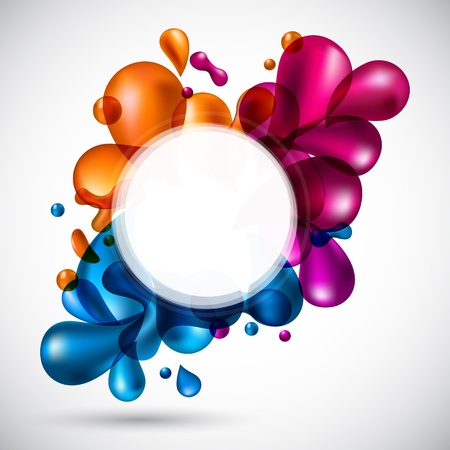 illustration of liquid multicolor backdrop.  Vector