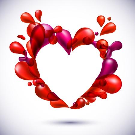 red love balloons heart shape. Stock Vector - 10366109