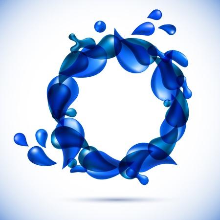 swirl water backdrop.  Vector