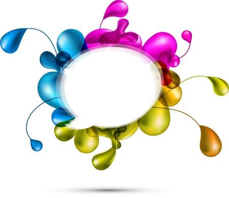 marcos redondos: telón de fondo multicolor de naturaleza.