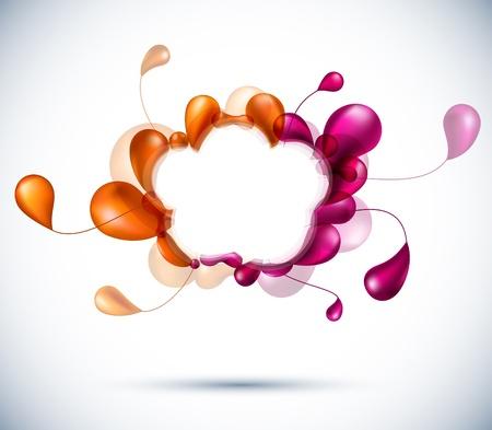 circle shape: cloud abstract backdrop.  Illustration