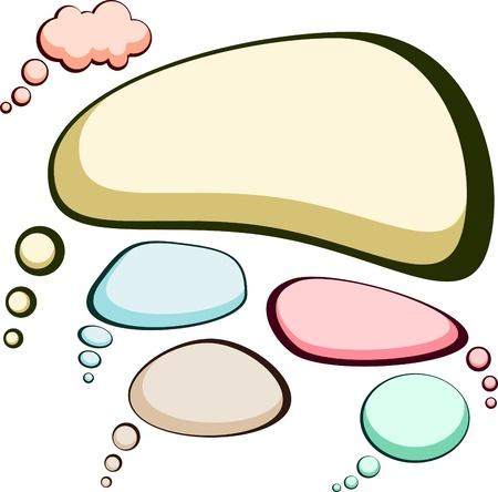 Set of comic style speech color bubbles.  Vector