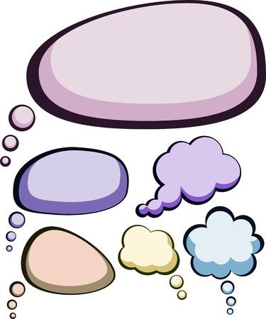 Jeu de bulles style bande dessinée de couleur de la parole. Vecteurs