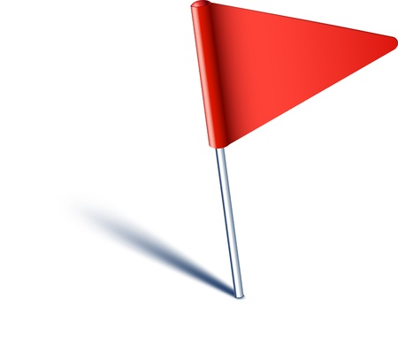map marker: Vector illustration of red pin flag.