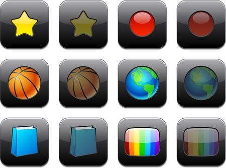 menu buttons: Illustration of apps icon set. Illustration