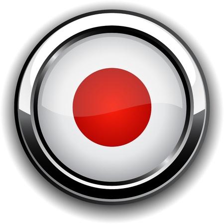 japan flag: Vector illustration of national Japanese flag icon.
