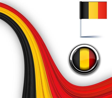 Vector illustration of national Belgian flag.  Stock Vector - 10562348