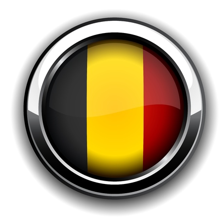 Vector illustration of national Belgian flag icon.  Vector