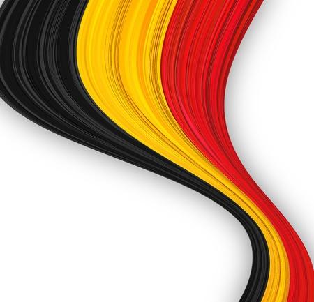 Vector illustration of national Belgian flag. Stock Vector - 10562346