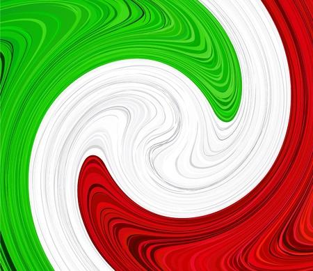 cultura italiana: Illustrazione vettoriale di bandiera nazionale italiana.
