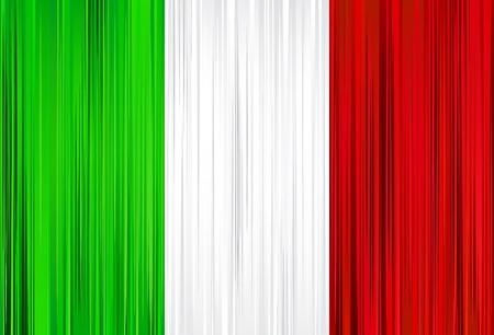cultura italiana: Illustrazione vettoriale della bandiera nazionale italiana.  Vettoriali