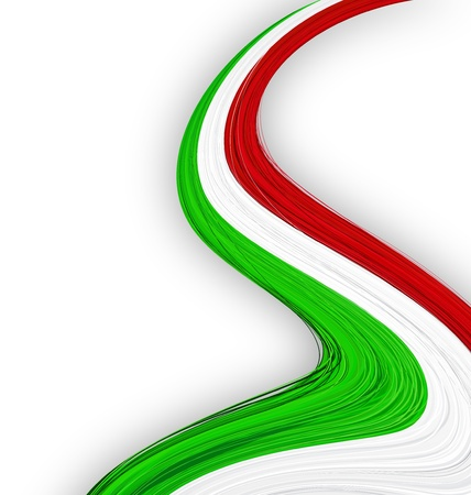 drapeau italien: Vector illustration du drapeau national italien.