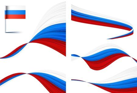 Ilustración vectorial de las banderas nacionales de Rusia.