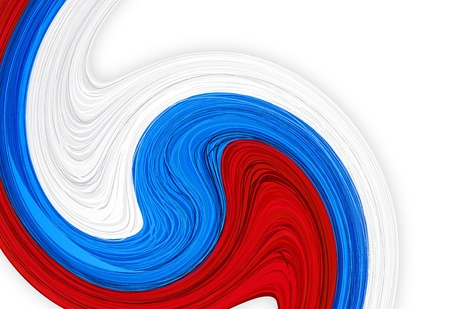 russian flag: Vector illustration of national russian flag.