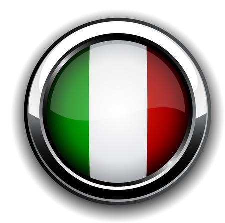illustration of national italian flag icon.  Vector