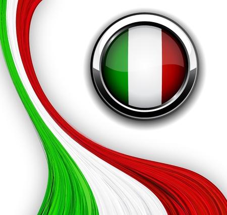 the italian flag:  Ilustraci�n de la bandera italiana.  Vectores