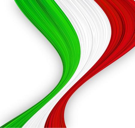 italian flag: illustrazione della bandiera nazionale italiana.
