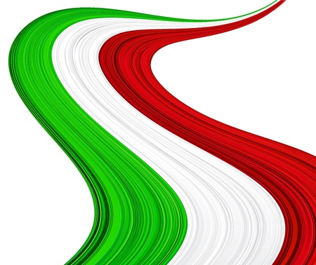 italian flag: illustration of national Italian flag.