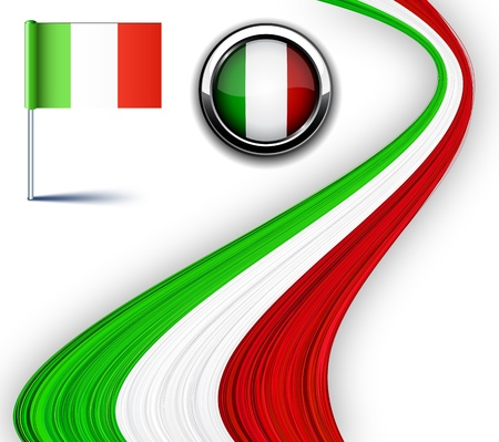 bandera de italia:  Ilustraci�n de la bandera italiana.  Vectores