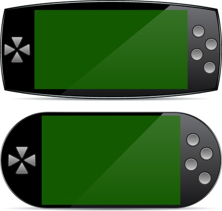 gamepads: Vector collection of Concept gamepads. Large touchscreens.