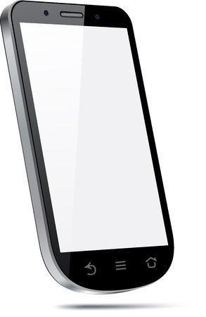 frontal view: Vector 3d Concept of communicator. Large touchscreen.