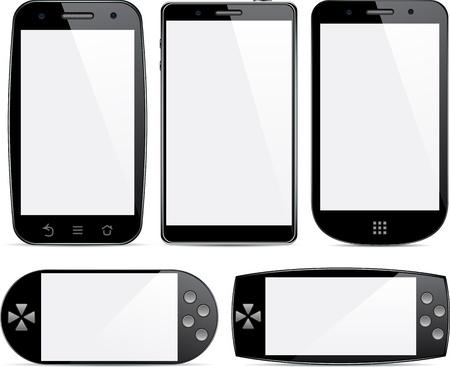 touchscreen: Vector colecci�n de concepto comunicadores. Pantalla t�ctil de gran tama�o.