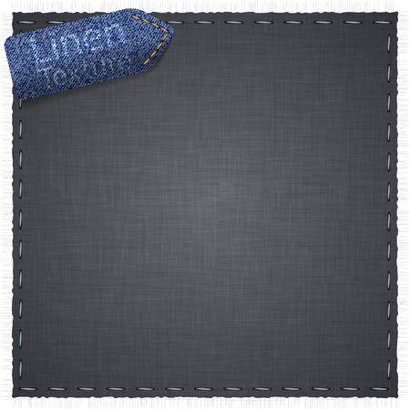 linen texture: Ilustraci�n vectorial de la textura de lino gris realista.