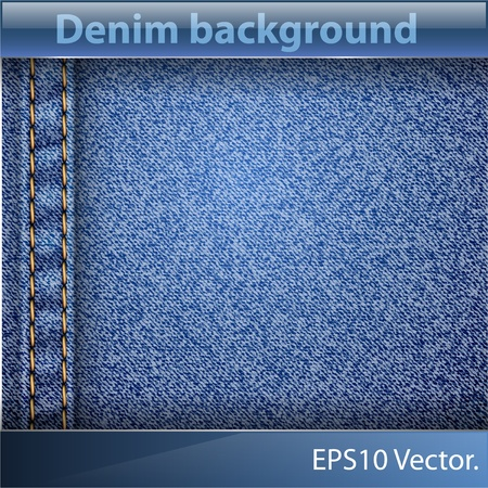 Realistic jeans texture pattern. Vector illustration.  Stock Vector - 10899197
