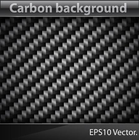 fibra de carbono: Ilustración vectorial de textura realista de fibra de carbono.