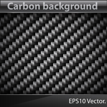 Vector illustration of realistic Carbon fiber texture.