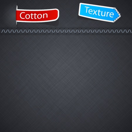 sewn: Vector illustration of grey realistic cotton texture.