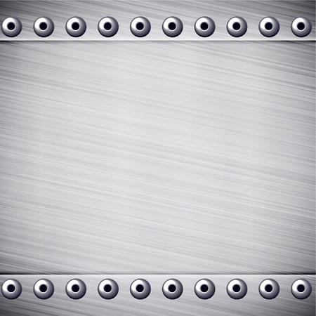sheet iron: Vector illustration of realistic metallic texture. Illustration