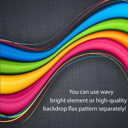 Vector illustratie van de abstracte levendige achtergrond op linnen textuur.